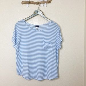 NWOT Basic Editions Loose Fit Short Sleeve Top Lg